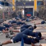 WATCH: Mountaineers Work Out to Country Roads